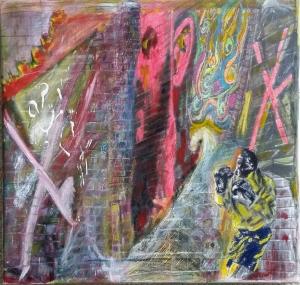 Berlin Wall, 17 x 19, acrylic on canvas