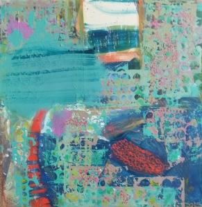 """""""Seascape"""" 24 x 24, acrylic on canvas"""