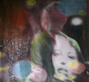 Theater Berlin, acrylic on canvas, 28 x 30
