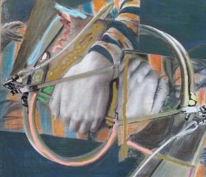 Empty Purse, 14 x 15, acrylic on canvas