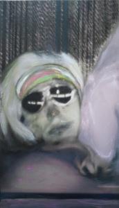 Theater Berlin, acrylic on canvas, 28 x 16