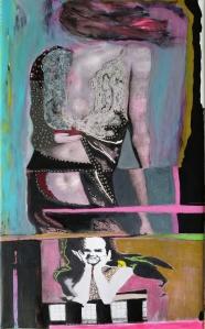 Windswept, new version, 28 x 17, acrylic on canvas