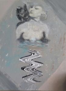 Josepha Gutelius, 18x 24 inches, Water Study, acrylic on canvas